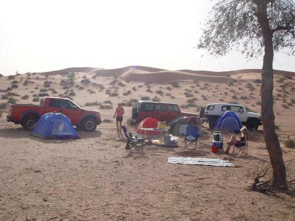 Campsite at Banyan Tree RAK