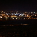 The Old City at night from the Mount of Olives