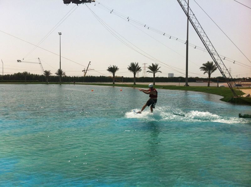 Not how to Wakeboard on a cable at Al Forsan