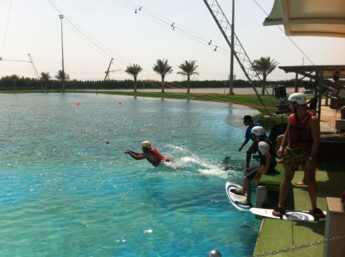 Wakeboarding at Al Forsan