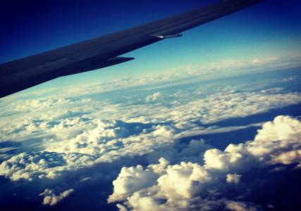 Clouds, American Airlines